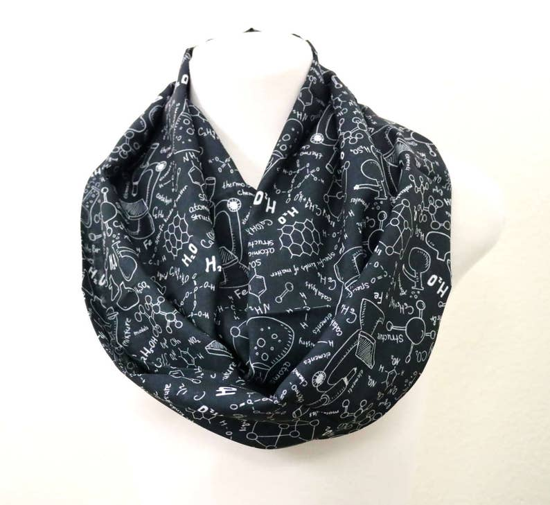 Handmade Math scarf birthday gift for her anniversary gift for engineer teacher