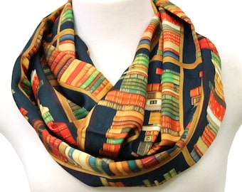 Book infinity scarf Literary Gifts old book scarves Library librarian gifts for bookworm writer gifts book lover geek nerd women teacher