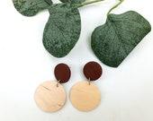 Brown & Wood | Polymer Clay Earrings