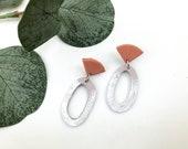 Rust & Splatter Painted Earrings | Polymer Clay Earrings