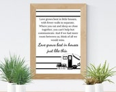 Love Grows Little Houses | Instant Download