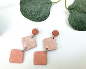Coral & Gold | Polymer ClayEarrings