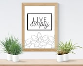 Live Simply | Instant Download