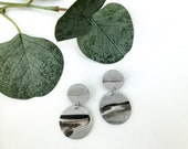 Black & Grey Earrings | Polymer Clay Earrings