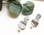 Black & White Marble Earrings | Polymer Clay Earrings