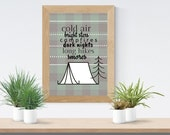 Camping Buffalo Plaid  | Instant Download