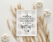 Making Memories Campsite | Instant Download