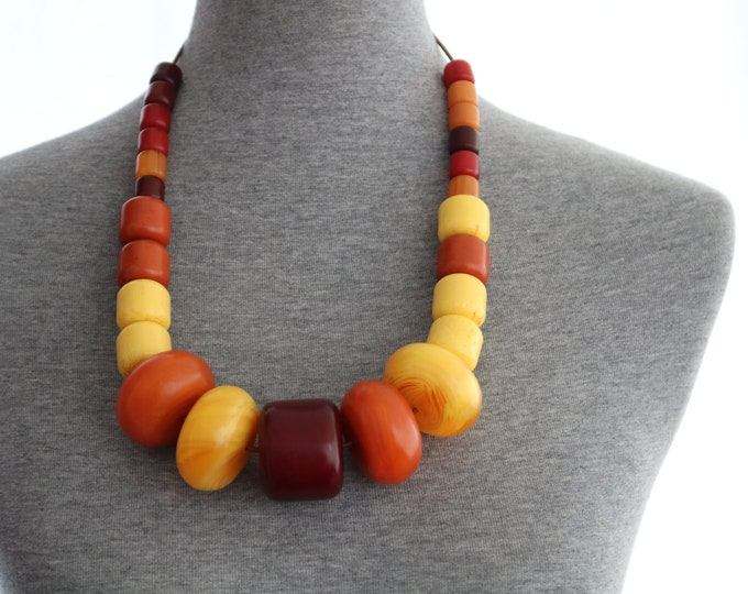 African amber necklace, african amber, large bead necklace, african jewelry, ethnic jewelry, ethnic necklace, Wakanda, black panther