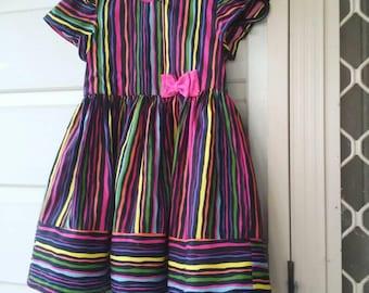 Bright Stripey Party Dress.