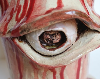 Bloody Eye Cookie Jar & Compost Bin, Halloween Vessel