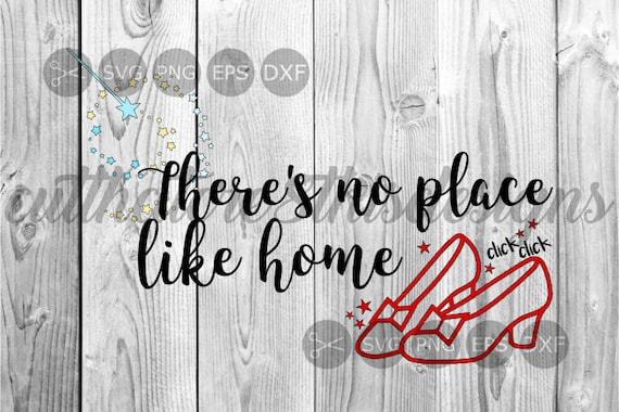 No Place Like Home Quotes Ruby Slippers Click Magic Wand Etsy