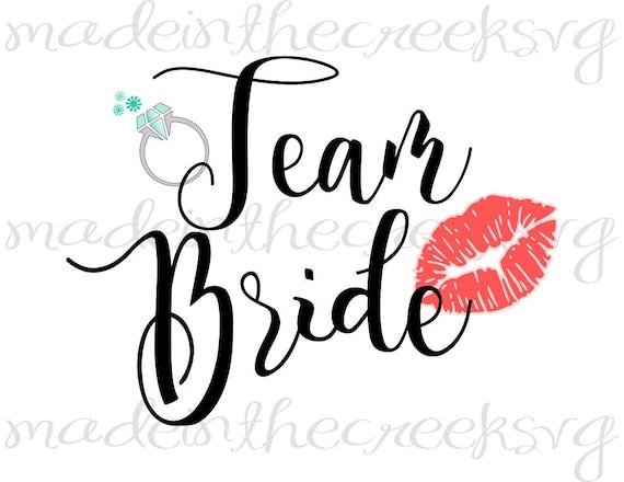 Team Bride Bachelorette Party Girls Wedding Ring Etsy