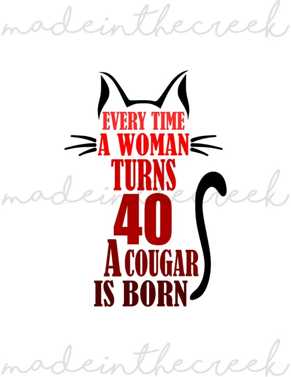 verjaardag vrouw 40 Draaien van 40 vrouw Cougar geboren verjaardag | Etsy verjaardag vrouw 40