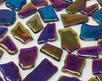 Disco Lights Glazed Ceramic Jigsaw Tiles//Mosaic Tiles//Mosaic Surplus // Ceramic tiles