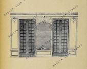 Georgian 18th Century Window - Digital Download Image Transfer Pillow Burlap Iron-On Teeshirt Fabric Scrapbooking Digital Stamp