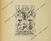 Ornate Neoclassical Ornament - Digital Download Image Transfer Pillow Burlap Iron-On Teeshirt Fabric Scrapbooking Digital Stamp