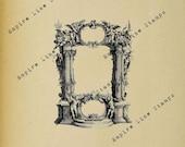 Ornate Baroque Frame - Digital Download Image Transfer Pillow Burlap Iron-On Teeshirt Fabric Scrapbooking Digital Stamp
