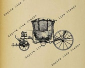 Marie Antoinette 39 s Coach - Digital Download Image Transfer Pillow Burlap Iron-On Teeshirt Fabric Scrapbooking Digital Stamp