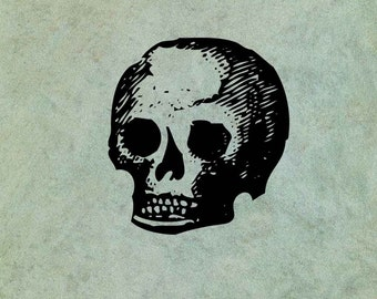 Primitive Skull - Antique Style Clear Stamp