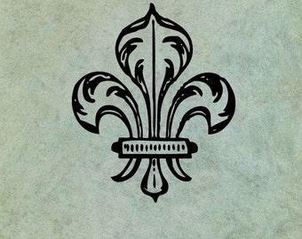Fleur de Lys  - Antique Style Clear Stamp