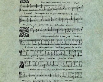 ATC Background Sheet Music - Antique Style Clear Stamp