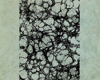 ATC Background Marbled Paper - Antique Style Clear Stamp