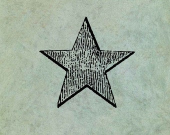 Star SMALL - Antique Style Clear Stamp