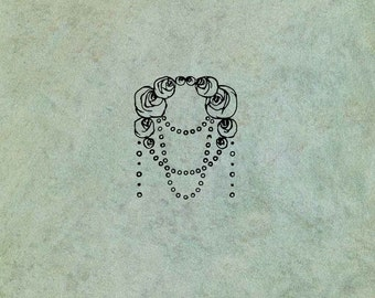 Art Deco Flourish SMALL - Antique Style Clear Stamp