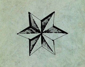 Faceted Star LARGE - Antique Style Clear Stamp