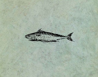 Fish SMALL - Antique Style Clear Stamp