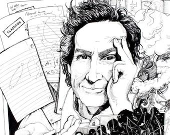 Richard Feynman Art Print