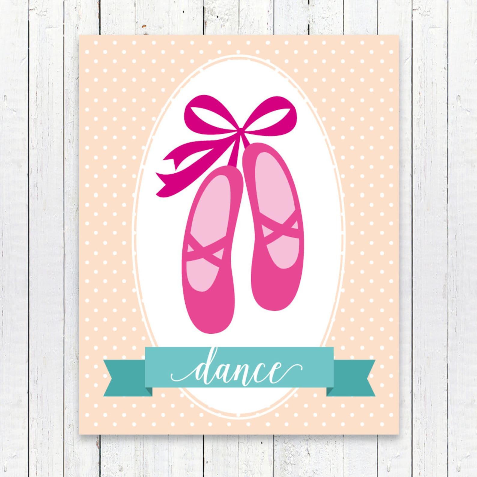 ballet art print, ballet wall print, ballet room art, playroom decor, nursery art, wall decor, children wall art, 8x10 print