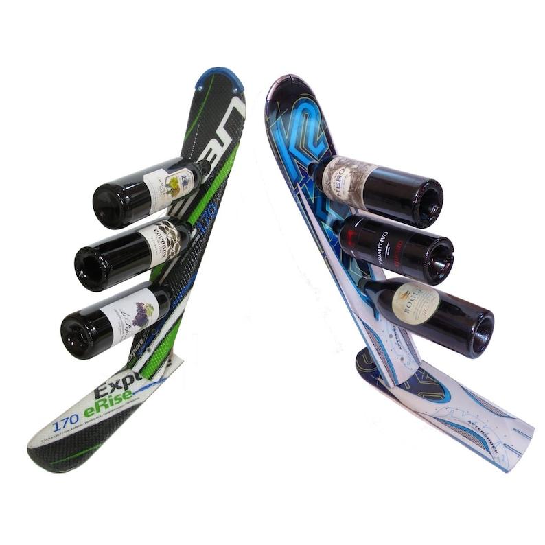 Ski Wine Bottle Rack image 0