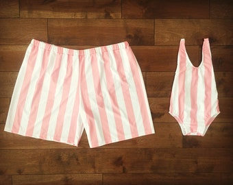 e234cf2bed Swimsuits Daddy and me // matching swimsuits // matchings swimwear // father  and daughter // stripes // swimwear //matching family swimsuits