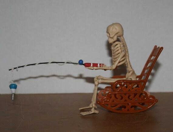 Skeleton Sitting In Chair Fishing Etsy