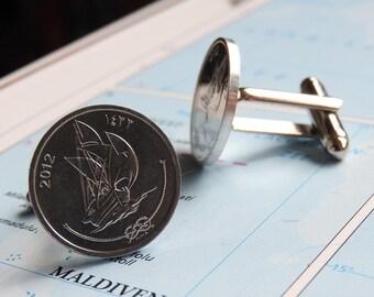 fernweh Hong Kong coin cufflinks made of original coins from Hong Kong Asia traveler