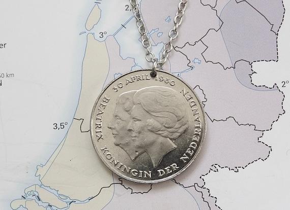 Dutch coin bracelet in birth year-Netherlands-1982-1983-1984-1985-1986-1987-1988-1989