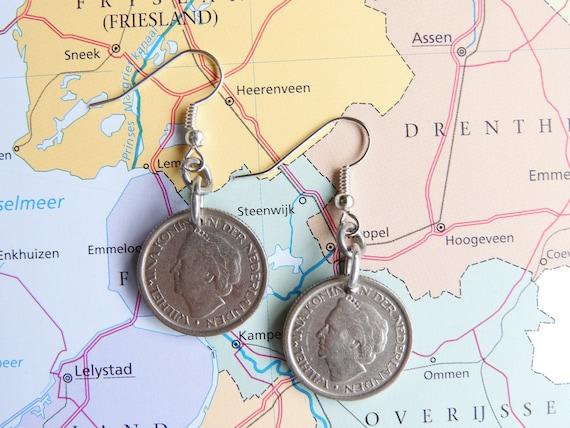 Niederlande Viertel Münzen Ohrringe Mit Holländischen Königin Etsy
