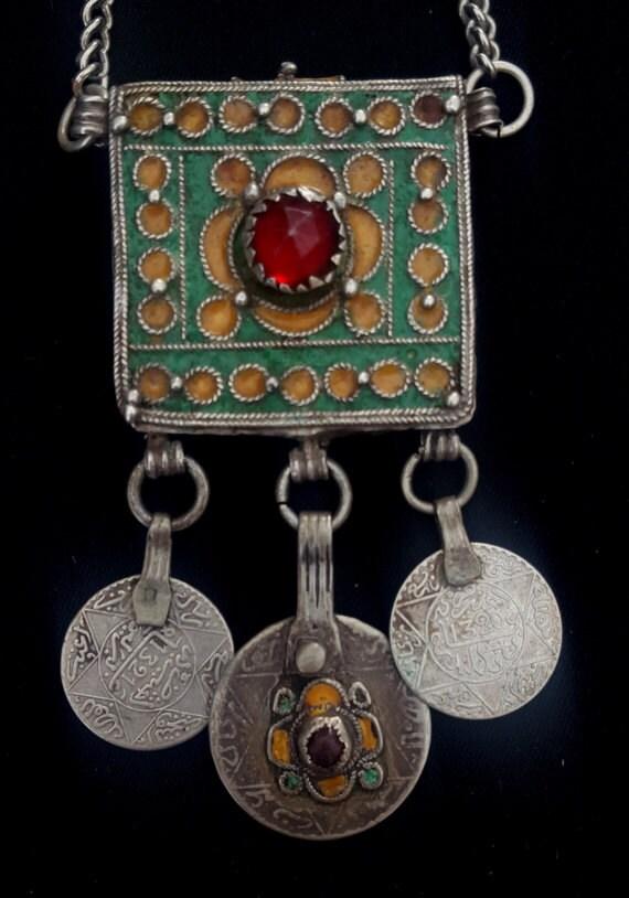 Marokko Halskette Die Alten Berber Kette Und Amulett Etsy