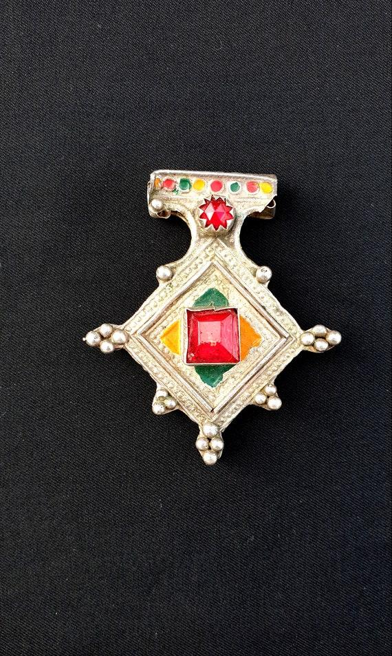 "Morocco - Cross ""Boghdad"" silver, enamel and glass"