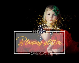 50 Blowing glitter overlays