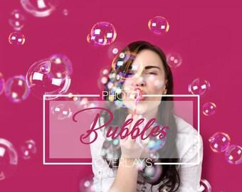 30 Bubbles Photoshop Overlays