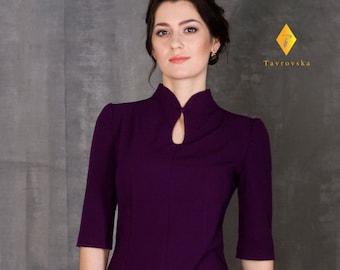 fa40e78d23 Purple pencil dress