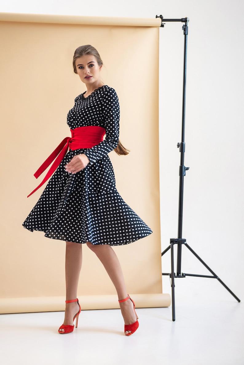 1dff0e0a8fac Polka dot Cotton Wrap summer Dress Boho Skater Belted | Etsy