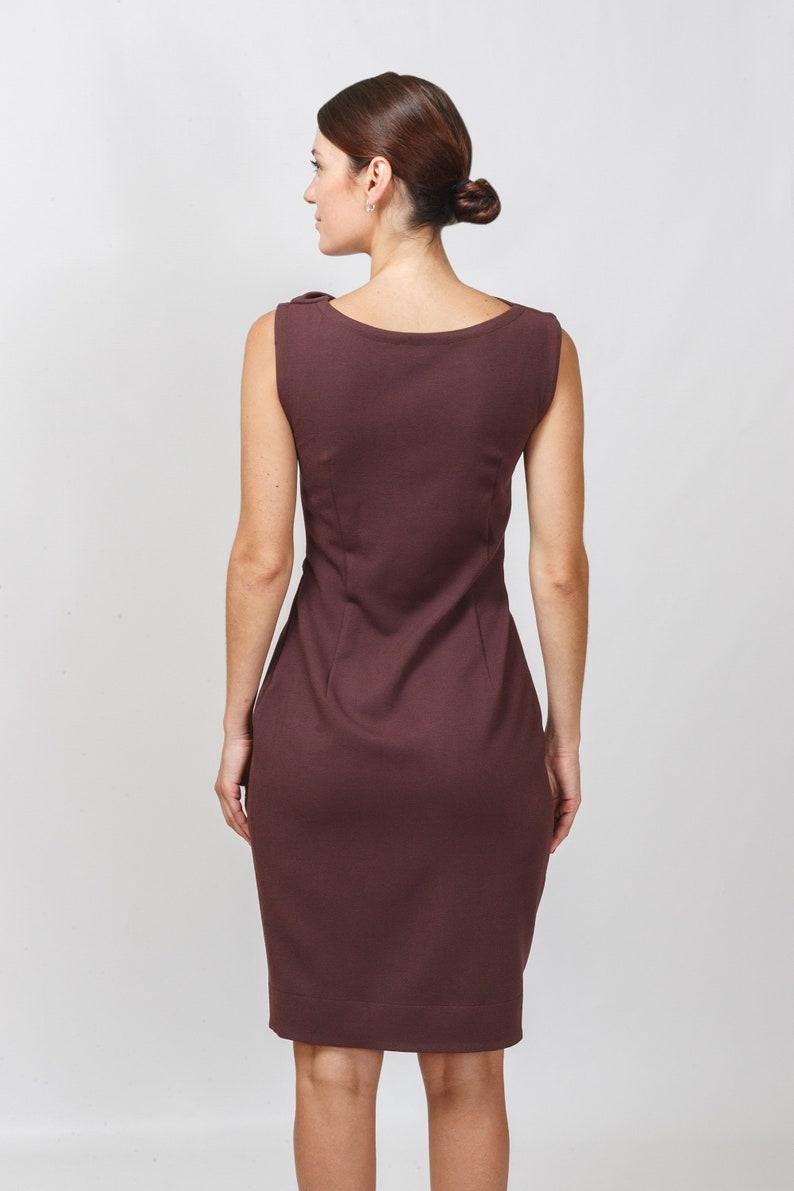 Cocktail-Cowl-Hals-Kleid braune Kleider für Frauen ...