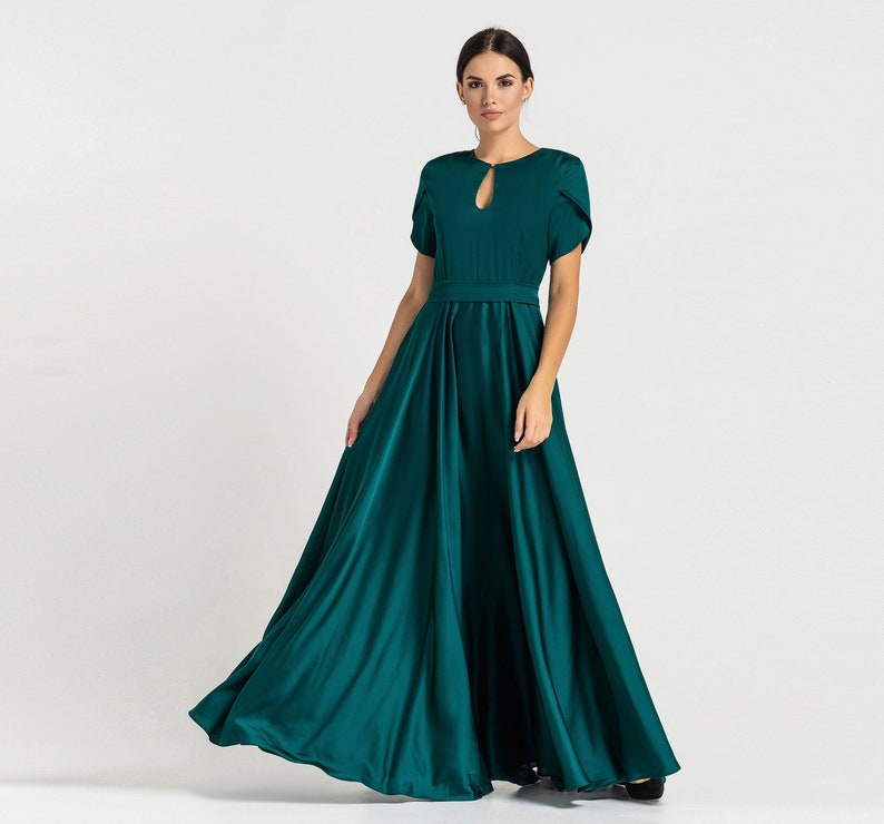 Prom Bridesmaid Cocktail Dresses for women Infinity Green image 0