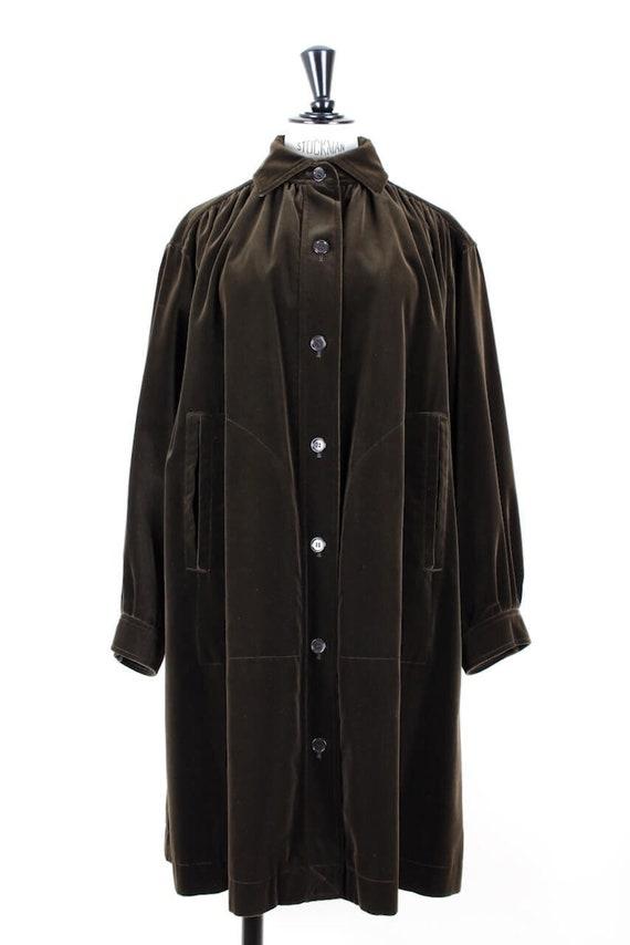 YSL Yves Saint Laurent Chocolate Brown Velvet Smoc