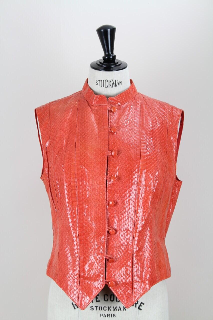 Rupp & Taureck Couture 1990er Jahre Jahrgang Erdbeere rot