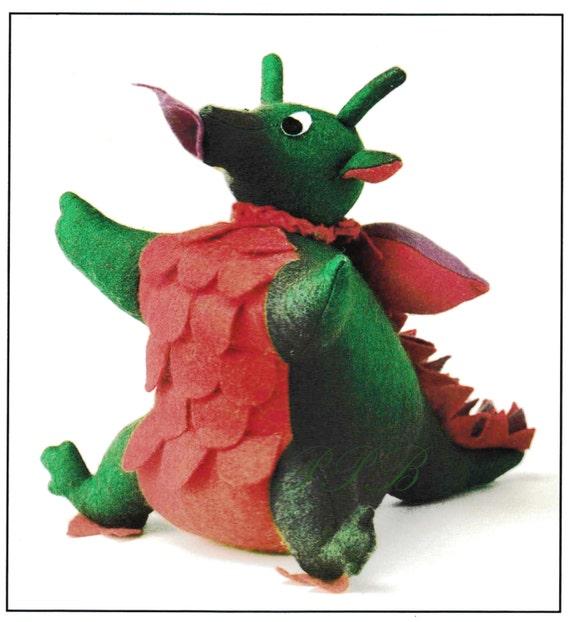 Dragon Sewing Pattern Soft Toy Pattern Pdf Sewing Etsy