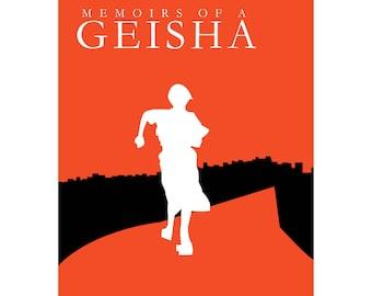 "Memoirs of a Geisha Minimalist Poster 8""x10"""